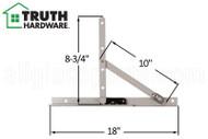 Awning Window Hinge (Truth Hardware 13.15) (18 inch track)
