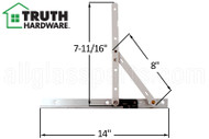 Casement Window Hinge (Truth Hardware 14.17) (14 inch track)