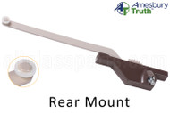 "Single Arm Casement Window Operator (Truth Hardware 'Roto Gear' 23.79) (Rear Mount, 9-1/2"" Arm) (Right) (Brown)"