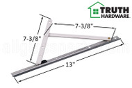 Casement Window Hinge (Washability) (Truth Hardware 'Maxim' 14.97) (13 inch track)