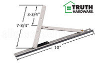 Casement Window Hinge (Concealed) (Truth Hardware 14.XX) (Snap Stud Adjustable) (10 inches length) (3-3/4 inches length divider)