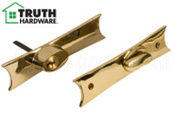 Inside Thumb Turn w Outside Keyed Lock (Escutcheon Set) (Truth Hardware)