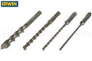 SDS-Plus Masonry Drill Bits (Irwin SpeedHammer Power) (6'' Length) (3/16'' Size)