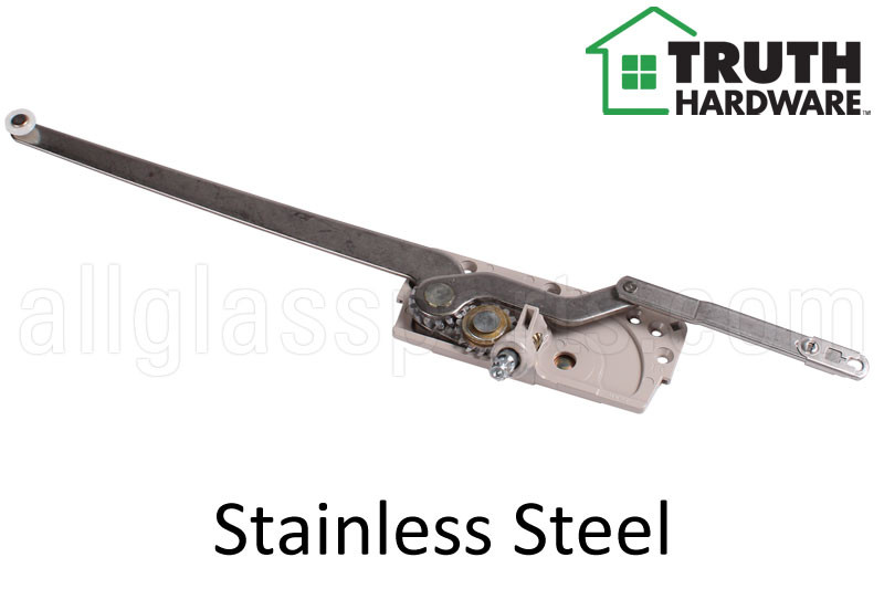 Dual Arm Casement Window Operator (Stainless) (Truth Hardware 'Entrygard'  15 14) (4-7/16
