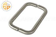 3/4'' Round Profile Back-to-back Handle (8'') (Brushed Nickel)