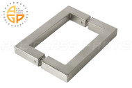 3/4'' Square Profile Back-to-back Handle (6'') (Brushed Nickel)