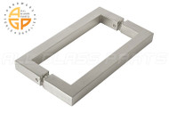 3/4'' Square Profile Back-to-back Handle (8'') (Brushed Nickel)