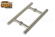 3/4'' H-style 'Ladder' Handle (6'') (Brushed Nickel)