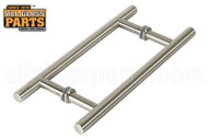 3/4'' H-style 'Ladder' Handle (8'') (Brushed Nickel)