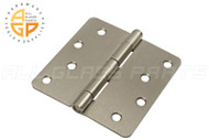 4'' x 4'' Butt Hinge (5/8'' Radius Corners) (Non-removable Pin) (Satin Chrome)