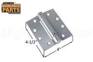 Spring Hinge (Butt Style) (Satin Chrome) (4-1/2 x 4'')