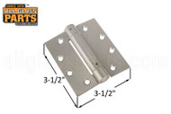 Spring Hinge (Satin Nickle) (3.5 x 3.5'') (Square)