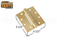 Spring Hinge (Polished Brass) (3.5 x 3.5'') (Square)