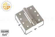 Spring Hinge (Butt Style) (Satin Nickel) (4 x 4'')