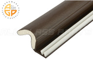 Foam-Tite Kerf Mounted Weatherseal (Brown) (96'' Length)