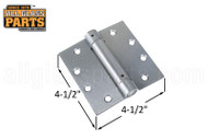 Spring Hinge (Butt Style) (Satin Chrome) (4-1/2 x 4-1/2'')