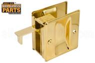 Pocket Door Combination Pull (Polished Brass)