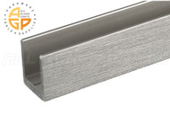 """High-profile U-channel for 1/2"""" (12mm) Glass (Brushed Nickel)"""