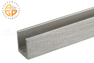 """U-channel for 1/4"""" (6mm) Glass (Brushed Nickel)"""