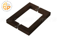 3/4'' Square Profile Back-to-back Handle (6'') (Oil-rubbed Bronze)