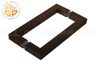 3/4'' Square Profile Back-to-back Handle (8'') (Oil-rubbed Bronze)