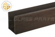 "High-profile U-channel for 3/8"" (10mm) Glass (Oil-rubbed Bronze)"