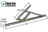 Awning Window Hinges (Truth Hardware 34.XX) (Stainless Steel) (16 inches length)