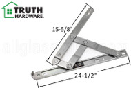 Window Hinge (Truth Hardware 34.XX) (Stainless Steel) (24-1/2 inches length)