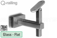 Square Line Adjustable Handrail Bracket Glass To Flat Material