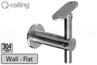 Bracket For Square Profile Handrail (Round Profile, Angle & Height Adjustable, Wall Mount)