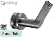 Premium Concealed Screw Handrail Bracket for Round Handrail (Glass Mount)