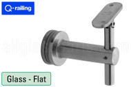 Bracket For Square Profile Handrail (Round Profile, Angle & Height Adjustable, Glass Mount)