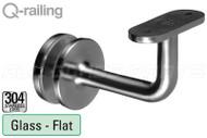 Bracket For Square Profile Handrail (Round Profile, Non-adjustable, Glass Mount)