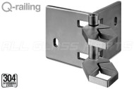 Square Line Corner Adjustable Fascia Mount Baluster Bracket