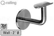 """Bracket For Round Profile Handrail (Round Profile, Non-adjustable, Wall Mount) (2"""" tubing)"""