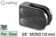 "Glass Clamp for Square Profile Railing (Round Style) (3/8"" Glass Thickness)"