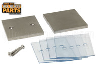Mall Clip (Square In-line) (Brushed Stainless)