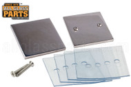 Mall Clip (Square In-line) (Polished Stainless)