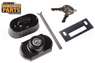 Storm Door Keyed Deadbolt (Black)