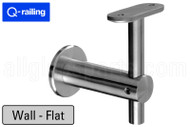 Bracket For Square Profile Handrail (Round Profile, Height Adjustable, Wall Mount)