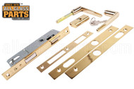 Storm Door Handle Set Lock Assembly (Mortise Style) (Brass)