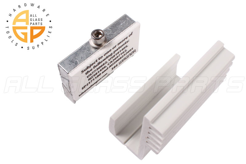 White Panel Grip Mounting Assembly All Glass Parts
