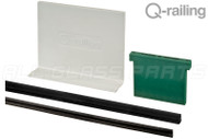 Easy Glass Slim Hardware And Finishing Pack For 9/16'' (13.52mm) Laminated Glass