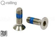 "Flat Head Machine Screw (5/16'' Diam x 5/8"" Head Diam) (1"" Length)"