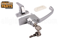 Push button Lock - Keyed (Silver)