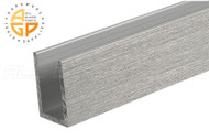 "U-Channel (1"" x 1"" x 1/8"" ) (Length 12') (Brushed Stainless)"