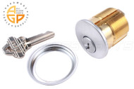 "Commercial Door Cylinder w/Key (1-1/4"" length )"