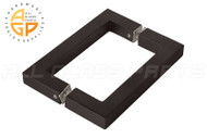"3/4"" Square Profile Back-To-Back Handle (6"") (Matte Black)"