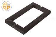 "3/4"" Square Profile Back-To-Back Handle (8"") (Matte Black)"