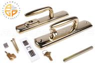 Multi-Point Door Handle (Bright Brass) (Truth Sentry Multi-Point Lock)